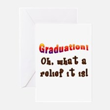 Graduation! What a Relief it is! Greeting Cards (P