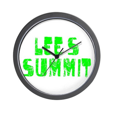 Lee's Summit Faded (Green) Wall Clock