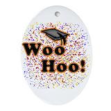 Masters degree graduation Oval Ornaments