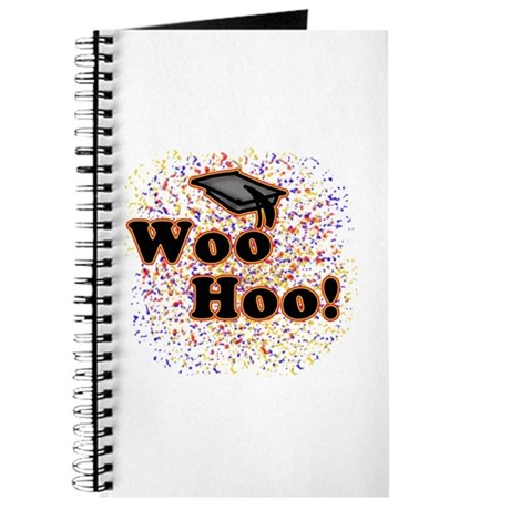 Woo Hoo Confetti Graduation Journal