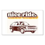 Nice Ride Rectangle Sticker