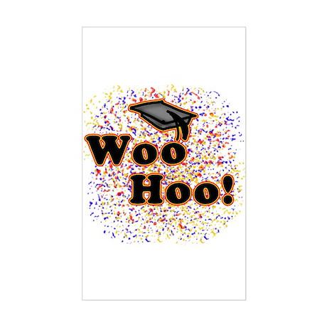 Woo Hoo Confetti Graduation Rectangle Sticker