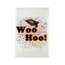Woo Hoo Confetti Graduation Rectangle Magnet