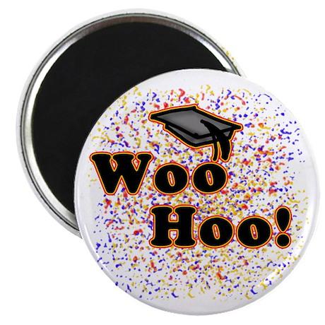 """Woo Hoo Confetti Graduation 2.25"""" Magnet (10 pack)"""