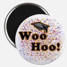 Woo Hoo Confetti Graduation Magnet