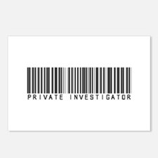 Private Investigator Barcode Postcards (Package of