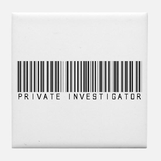 Private Investigator Barcode Tile Coaster