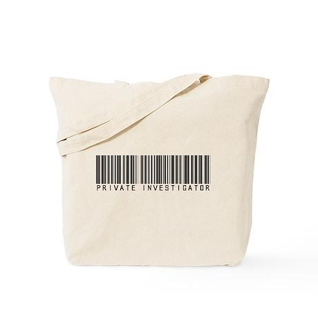 Private Investigator Barcode Tote Bag