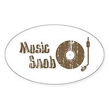 Music Snob Oval Decal