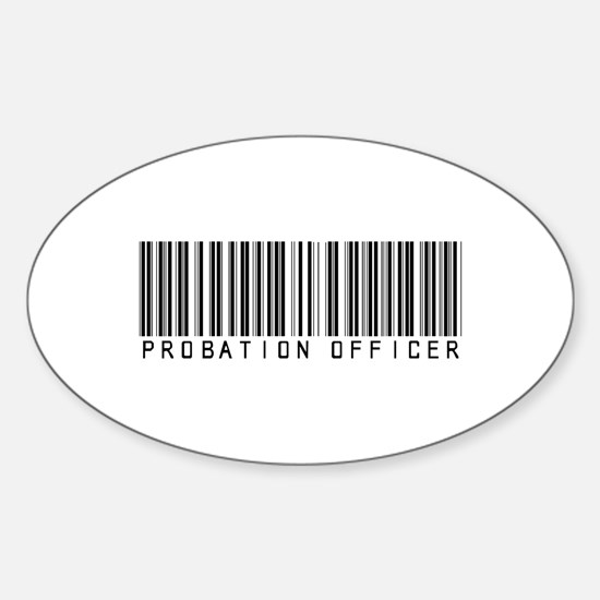 Probation Officer Barcode Oval Decal