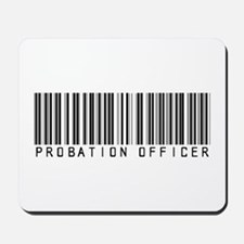 Probation Officer Barcode Mousepad