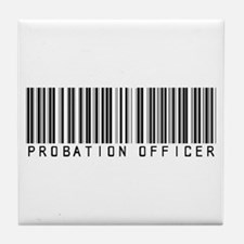 Probation Officer Barcode Tile Coaster