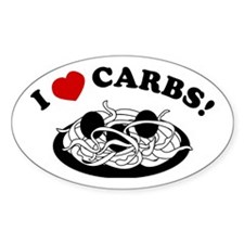 I Love Carbs! Oval Decal