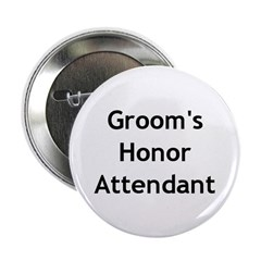Groom's Honor Attendant Button