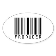 Producer Barcode Oval Decal