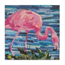 Unique Flamingos Tile Coaster