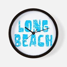 Long Beach Faded (Blue) Wall Clock