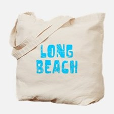 Long Beach Faded (Blue) Tote Bag