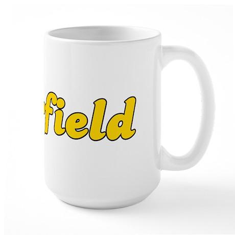 Retro Deerfield (Gold) Large Mug