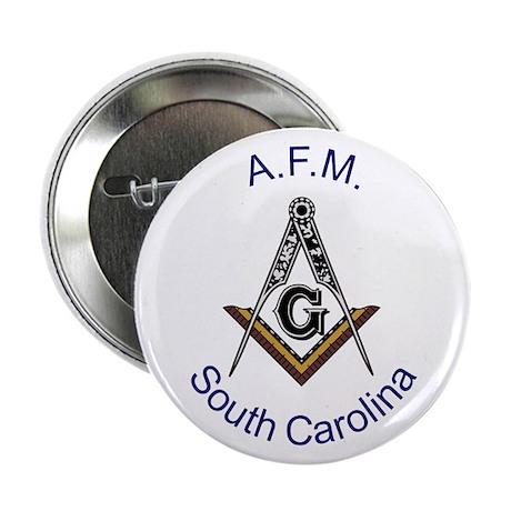 """South Carolina Square and Com 2.25"""" Button"""