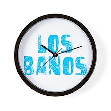 Los Banos Faded (Blue) Wall Clock