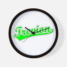 Retro Trevion (Green) Wall Clock