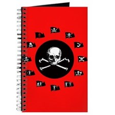 Pirate Flags, Red Jolly Roger Journal