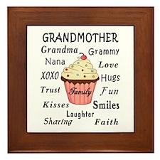 Grandma's Cupcakes For Grandmothers Framed Tile