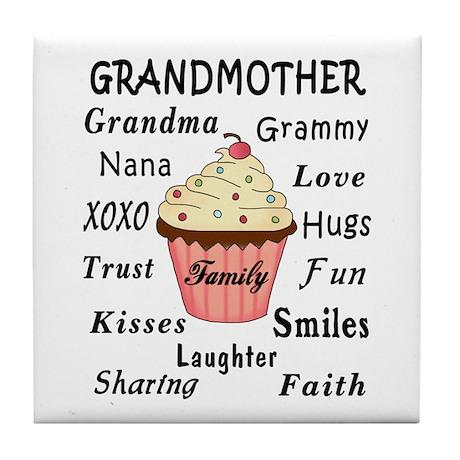 Grandma's Cupcakes For Grandmothers Tile Coaster