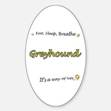 Breathe Yellow Oval Decal