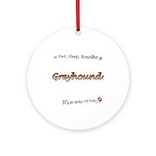 Breathe Orange Ornament (Round)