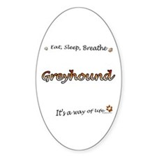 Breathe Orange Oval Decal