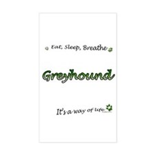 Breathe Green Rectangle Decal