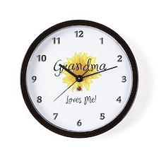Grandma Loves Me Wall Clock
