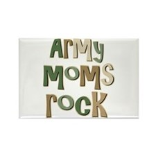 Military Army Moms Rock Rectangle Magnet