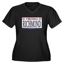 Richmond License Plate Women's Plus Size V-Neck Da