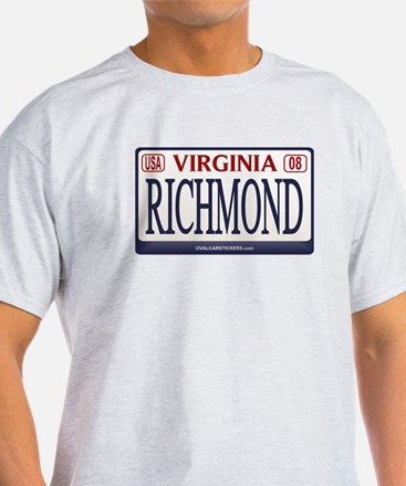 Richmond License Plate T-Shirt