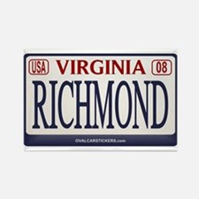 Richmond License Plate Rectangle Magnet
