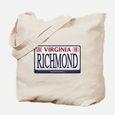 Richmond License Plate Tote Bag
