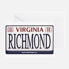 Richmond License Plate Greeting Card