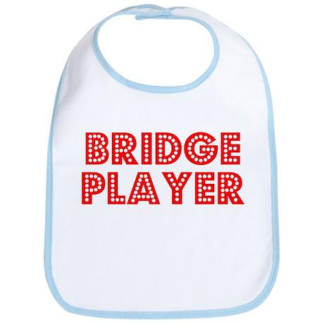 Retro Bridge Player (Red) Bib