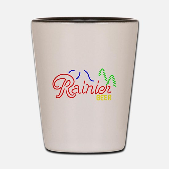 Rainier Beer neon sign 2 Shot Glass