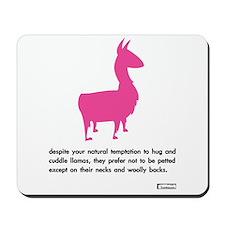 'cuddle llamas' computer mousepad