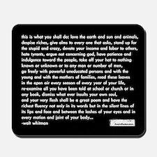 'walt whitman' mousepad (black)