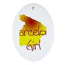 Barcelona Girl Oval Ornament