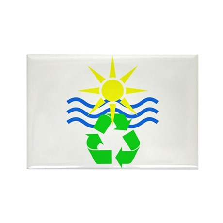 Yellow & Blue Make Green Rectangle Magnet (100 pac