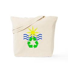 Yellow & Blue Make Green Tote Bag
