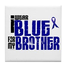 I Wear Blue For My Brother 6 Tile Coaster