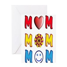 Mom, Mom, Mom Greeting Card