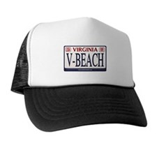 Virginia Beach License Plate Trucker Hat